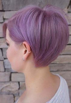 29 Trendsetting Purple Hair Color Ideas for Short Hair for a Chic Look Purple Hair Color Ideas for Short Hair Purple Hair Color Ideas for Short Hair are in right now! Tell me, what can be better shade of purple hair colo…, Hair Color Short Purple Hair, Light Purple Hair, Hair Color Purple, Cool Hair Color, Hair Colors, Purple Pixie Cut, Purple Iris, Short Hair Lengths, Short Hair Cuts