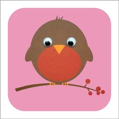 Robin card with googly eyes! Christmas Arts And Crafts, Felt Christmas Decorations, Diy Christmas Cards, Kids Christmas, Preschool Projects, Preschool Crafts, Preschool Ideas, Art Projects, Diy For Kids