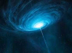 Concepção artística da mais nítida imagem de um buraco negro já captada por cientistas