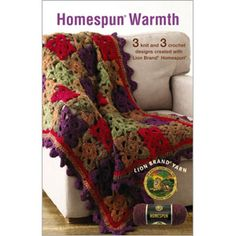 Homespun Warmth crochet pattern book