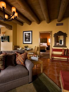 Image Of Las Palomas, Santa Fe Same Floor / Wall Colors As Mind And The  Vigas! Part 13