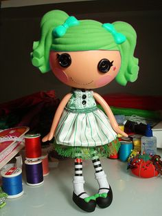 Lalaloopsy Dress Green and White by ElwynnHarper, via Flickr