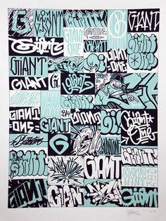 Mike Giant Graffiti Doodles, Graffiti Drawing, Graffiti Murals, Graffiti Styles, Graffiti Alphabet, Graffiti Lettering, Street Art Graffiti, Mike Giant, Graffiti Tagging