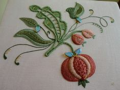 """""""Pomegranates"""" by Sylvia Murariu (Rumanian Point Lace and Embroidery)"""