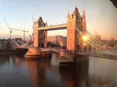 Tower Bridge at the turn of the tide.  London at it's best