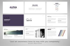 Alpha | Powerpoint Template by Zacomic Studios on @creativemarket