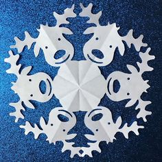 Penguin Paper Snowflake Pattern Pdf Digital Download  Paper