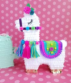 Bright girly colors for all your llama themed parties. Birthday Pinata, Llama Birthday, Baby First Birthday, First Birthday Parties, Birthday Party Decorations, First Birthdays, Party Themes, Themed Parties, Birthday Gifts