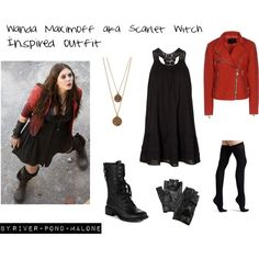 Wanda maximoff aka Scarlet witch in age of ultron by river-pond-malone on Polyvore featuring polyvore, fashion, style, Vero Moda, McQ by Alexander McQueen, Commando, Sam Edelman, Bee Charming, Carolina Amato and Quiksilver