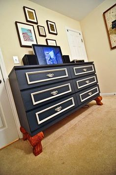 ikea malm hack - needs other stands but looks very nice. Like the color!