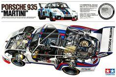 Porsche 935 Martini cutaway diagram