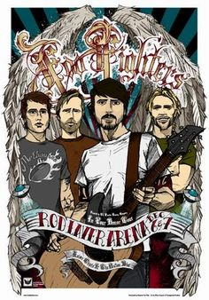 Foo Fighters Concert Poster By Rhys Cooper