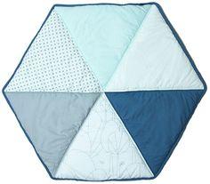 SneDesign Lekmatta Hexagon Blå