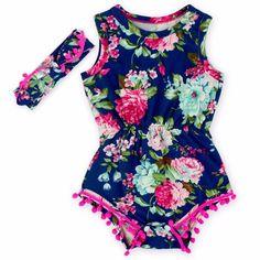 body infantil 100% algodão com tiara