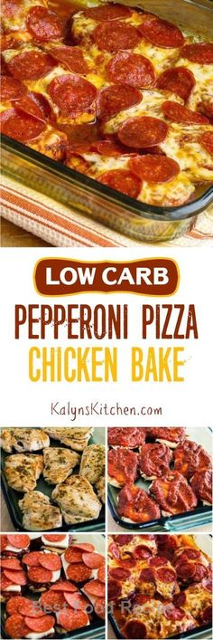 this low carb pepperoni pizza chicken bake is the ultimate in low carb comfort