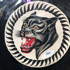 Traditional Flash, American Traditional, Traditional Tattoos, Vintage Tattoo Design, Vintage Flash, 70th Anniversary, Animal Heads, Big Cats, Old School