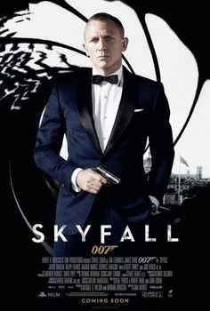 Bond is Back in the new SKYFALL movie poster with Daniel Craig