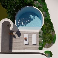 Raised circular white pool. outdoor shower and courtyard landscaping design - tristanpeirce Landscape Architecture Pool and Garden Design City Beach Perth Courtyard Landscaping, Landscaping Design, Design City, Landscape Architecture Design, City Beach, Perth, Garden Design, Shower, Outdoor