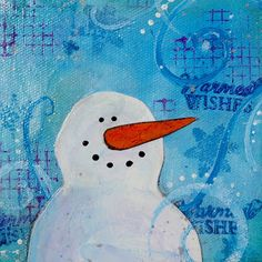 susan walker art: Stickein' it for Mixed Media Art. Gel medium tips for mixed media.  Warm Wishes $43