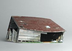 If Its Hip, Its Here: Small Scale Models of Decaying Homes Built and Photographed by Ofra Lapid.