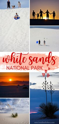 Nestled in southern New Mexico, just outside of Alamogordo, White Sands National Park is a magical place, unlike any other place in the country. White sand dunes and spectacular sunsets make this (new) National Park an absolute must-do! #familytravel #nationalparks #visitNM #whitesands National Parks Map, California National Parks, East Coast Family Vacations, Southern New Mexico, White Sands National Monument, Visit Mexico, Cities In Europe, Beautiful Places To Travel, Family Travel