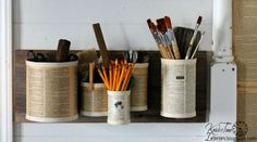 Easy Tin Can Organizers for Every Room In Your House #ReFab