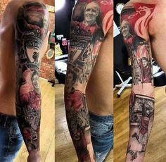 Liverpool Tattoo, Liverpool Fc, Lfc Tattoo, Football Icon, Leg Sleeves, Tattoo Illustration, Manchester City, Tattoo Images, Sleeve Tattoos