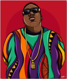 Carnivour Creates. Biggie Smalls Art Print