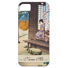 Saito Hodo Bijin By A Garden Engawa in Spring iPhone 5 Covers #iphone5 #iphone #japanese #garden #spring #customized #personalized