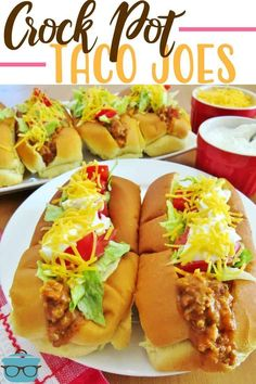 crock pot dinners Crock Pot Taco Joes are like sloppy joes with a taco twist. This filling is amazing in tacos and burritos or on tostadas. A huge family favorite! Crock Pot Tacos, Crock Pot Slow Cooker, Crock Pot Cooking, Slow Cooker Recipes, Crockpot Recipes, Cooking Recipes, Cooking Rice, Taco Joes, Country Cooking