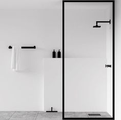 Scandinavian bathroom, minimalist bathroom, white and black bathroom Minimalist Bathroom Design, Minimalist Interior, Bathroom Interior Design, Minimalist Decor, Minimal Bathroom, Bathroom Designs, Minimalist Design, Nordic Interior, Minimal House Design