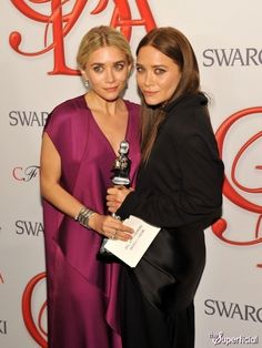 congrats to the Olsen twins for Womenswear Designer of the year! #CFDA