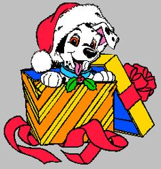 Non-Copyrighted Drawings | ... 101 Dalmatians Christmas Clip Art ...