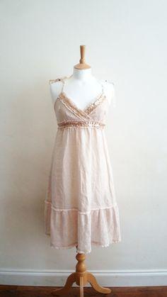 Upcycled Woman's Clothing Romantic Eco Style  Dress by EkoLuka, $78.00