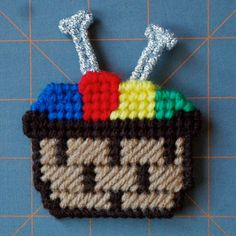 Plastic Canvas: I Love Knitting Magnets set by ReadySetSewbyEvie