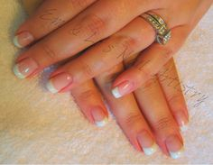 Brisa Pink & White French Overlay