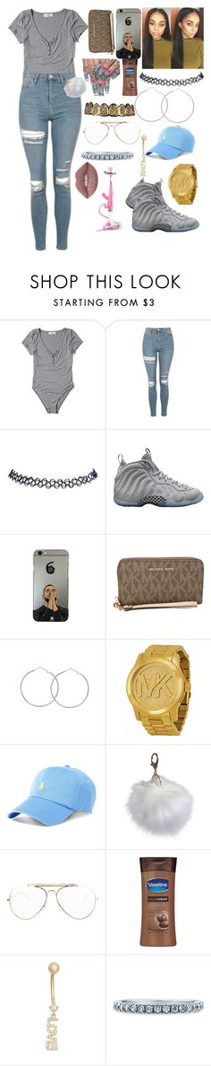 """""""✨"""" by jadynbell ❤ liked on Polyvore featuring Hollister Co., Topshop, Wet Seal, NIKE, MICHAEL Michael Kors, Michael Kors, Ralph Lauren, Threshold, CÉLINE and Gioelli"""