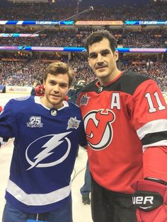 Point and Brian Boyle at All Stars. Tampa 2018. Go Bolts ⚡