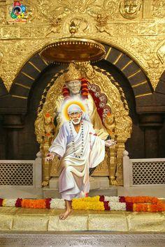 Sai rushes to answer those who called him Sai Baba Pictures, God Pictures, Shree Ganesh, Ganesha, Shirdi Sai Baba Wallpapers, Hanuman, Krishna, Durga, Sai Baba Hd Wallpaper