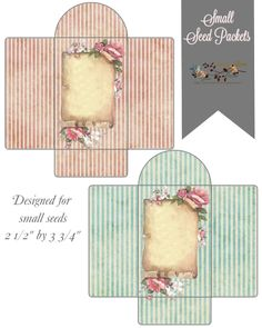 glenda's World : Small Seed Packets / Envelopes (free)