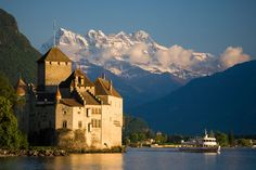 Château de Chillon. I love castles. So much fun prancing around wishing I had lived in the yonder years. Didn't see any ghosts though.