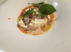 Burrata dish at Franco's osteria, Hove