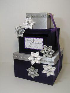 purpl and silver card box - Google Search