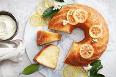 Drizzled with homemade lemon syrup and served with a dollop of cream, this easy whole lemon cake is a must for your afternoon cuppa. Lemon Recipes, Baking Recipes, Lemon Desserts, Flour Recipes, Cupcake Recipes, Sweet Recipes, Sticky Date Pudding, Quince Cakes, Lemon Syrup