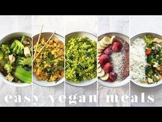 (8) MY GO-TO EASY VEGAN MEALS | 5 Lazy & Cheap Recipes - YouTube