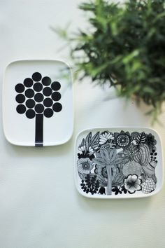 MATERIAN TAJU Marimekko Hortensie by Carina Seth-Andersson Ceramic Decor, Marimekko, Kitchen Design, Koti, Ceramics, Interior Design, Tableware, Anna, Dishes