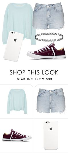 """*"" by sealy913 ❤ liked on Polyvore featuring J Brand, Topshop and Converse"