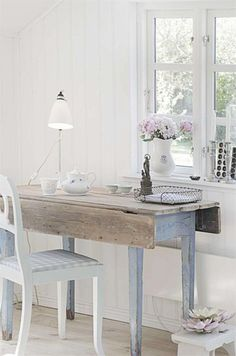 shabby chic cottage home office