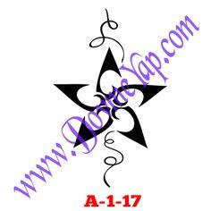 Yıldız Geçici Dövme Şablon Örneği Model No: A-1-17