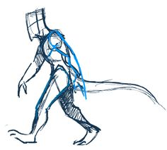 Shortly after finding out I had to change my legs from human to digitigrade I started panicking about how to make my stop motion character walk with these unfamiliar legs. I have found a few examples of walk cycles on the internet and the above I...